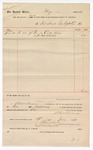 1889 July 19: Voucher, to Fort Smith Gas Light Co.; includes cost of gas in court house; Jacob Yoes, U.S. marshal; Stephen Wheeler, clerk; I.M. Dodge, deputy clerk; S.A. Williams, chief deputy
