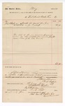 1889 July 19: Voucher, to Fort Smith Water Co.; includes cost of water at court house; Jacob Yoes, U.S. marshal; S.A. Williams, chief deputy; Stephen Wheeler, clerk; I.M. Dodge, deputy clerk