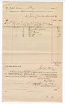 1889 July 18: Voucher, to Jacob Yoes, U.S. marshal; includes cost of repairing court room; S.A. Williams, chief deputy; Stephen Wheeler, clerk