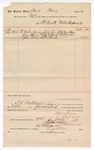 1889 July 19: Voucher, to Fort Smith Water Company; includes cost of water furnished to U.S. courthouse; Jacob Yoes, U.S. marshal; S.A. Williams, chief deputy; Stephen Wheeler, clerk; I.M. Dodge, deputy clerk
