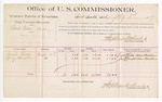 1889 July 1: Voucher, U.S. v. Bud Dean, larceny; includes cost of per diem and mileage; Josiah Fields, Jerry Hampton, witnesses; Jacob Yoes, U.S. marshal; Stephen Wheeler, commissioner