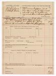 1889 July 15: Voucher, U.S. v. William Cogburn, Robert Pervin; includes cost of mileage; E.R. Box, deputy marshal
