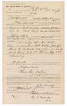 1889 July 6: Voucher, to J.E. Arnold, of Cache Bottom, Creek Nation, for assisting Jacob Yoes, U.S. marshal, in U.S. v. Robert Krebb, introducing spiritous liquor and U.S. v. Dock Harp, assault with intent to kill; W.H. Arnold, deputy marshal; Stephen Wheeler, clerk; I.M. Dodge, deputy clerk