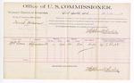 1889 July 2: Voucher, U.S. v. David Folsom, larceny; includes cost of per diem and mileage; W.T. Ross, witness; Jacob Yoes, U.S. marshal; Stephen Wheeler, commissioner