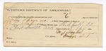 1889 July 9: Voucher, U.S. v. John Thomas, introducing and selling spiritous liquor; John Salmon, deputy marshal; Stephen Wheeler, commissioner; John Sparks, H.C. West, Mat Posey, C.A. Burnels, witnesses; Mike Woods, posse comitatus; M.J. Taylor, guard; includes cost of mileage and feeding prisoners