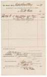 1889 July 03: Voucher, to E.M. Rode; includes cost of ledgers and index furnished to U.S. District court; Jacob Yoes, U.S. marshal; S.A. Williams, chief deputy; Stephen Wheeler, clerk; I.M. Dodge, deputy clerk