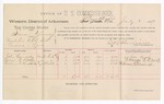 1889 July 3: Voucher,  U.S. v. Sam Young, violating internal revenue law; includes cost of per diem and mileage; John Canady, Lorenzo D. Brody, William D. Hendricks, witnesses; Jacob Yoes, U.S. marshal; E. B. Harrison, commissioner