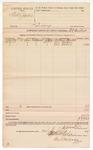 1889 July 24: Voucher, U.S. v. Willis James, larceny; includes cost of mileage and service; B.C. Cantrell, deputy marshal; Andrew Mandell, One Watson, One Wilson, witnesses; Jacob Yoes, U.S. marshal; Stephen Wheeler, clerk; I.M. Dodge, deputy clerk