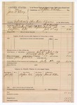 1889 July 14: Voucher, U.S. v. Jesse McElroy, introducing spiritous liquors; W.H. Arnold, deputy marshal; Stephen Wheeler, commissioner; Frank Patton, witnesses; includes cost of mileage and feeding prisoner