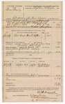 1889 July 6: Voucher, U.S. v. More Linely, introducing spiritous liquor; W.H. Arnold, deputy marshal; Jacob Yoes, U.S. marshal; George William, Bill Ladd; includes cost of rail road fare, feeding prisoner and mileage; Stephen Wheeler, commissioner; I.M. Dodge, deputy clerk