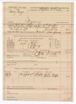 1889 July 22: Voucher,  U.S. v. Nancy George, bigamy; B.T. Hughes, deputy marshal; Stephen Wheeler, commissioner; Wesley George, James Ritter; includes cost of ferriage, toll, lodging, corn and mileage