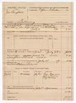 1889 July 18: Voucher, U.S. v. James Campbell, larceny; B.T. Hughes, deputy marshal; Stephen Wheeler, commissioner; Gabe Patterson, John Couroy, Alf McCay, witnesses; William Parker, posse comitatus
