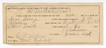 1889 July 5: Voucher,  U.S. v. Sam Young, violating internal revenue law; E.P. Vickers, deputy marshal; Jacob Yoes, U.S. marshal; Jefferson Johnson, guard; includes cost of mileage and subsistence for self, horse, and prisoner; John Canady, Dowe Brodie, W.D. Hendrix, witnesses; Stephen Wheeler, clerk; E.B. Harrison, commissioner