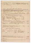 1889 July 18: Voucher, U.S. v. William Newsome, assault with intent to kill; W.H. Arnold, deputy marshal; Stephen Wheeler, commissioner; Frank Williams, Dr. C.H. Mahone, M.L. Thomas, witnesses; includes cost of ferriage, toll and subsistence for self, horse and prisoner; Henry Wallace, posse comitatus