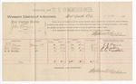 1889 July 6: Voucher, U.S. v. John Barnes, assault with intent to kill; includes cost of per diem and mileage; T.G. Harris, S.W. Gatlin, C.C. Mathis, witnesses; Jacob Yoes, U.S. marshal; Stephen Wheeler, commissioner