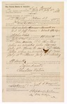 1889 July 17: Voucher, to S.S. French, Poteau, Choctaw Nation, for assisting Jacob Yoes, U.S. marshal, in U.S. v. John Barnes, assault with intent to kill and U.S. v. Jeff Downs, introducing and selling spiritous liquors; E.B. Ratterree, deputy marshal; Stephen Wheeler, commissioner; I.M. Dodge, deputy clerk