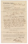 1889 July 12: Voucher, to Mike Woods, of Fort Smith, for assisting Jacob Yoes, U.S. marshal, in U.S. v. Thomas Reeves, introducing and selling spiritous liquor, and U.S. v. Buck Anderson, introducing and selling spiritous liquor; John Salmon, deputy marshal; Stephen Wheeler, clerk; I.M. Dodge, deputy Clerk