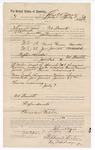 1889 July 9: Voucher, to John W. Yoes, of Fort Smith, Arkansas, for assisting Jacob Yoes, U.S. marshal, in U.S. v. Newt Gann, murder and U.S. v. Joe James, assault; J.H. Mershon, deputy marshal; Stephen Wheeler, commissioner; I.M. Dodge, deputy clerk
