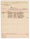 1889 July 8: Voucher, U.S. v. Frank Cogburn, conspiracy; E.R. Box, deputy marshal; Carroll Middleton, Rosetta Cogburn, Z.P. Logan, Carter Markham, Joseph Sperhing, John Shilley, I.T. Jeffrey, witnesses