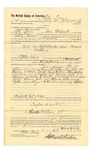 1887 July 16: Voucher, to Peter Tovery, of Fort Smith, Arkansas, for assisting Jacob Yoes, U.S. marshal, in U.S. v. Charles Barker et al., larceny; Stephen Wheeler, commissioner; L.P. Isbell, deputy marshal; William Morris, John Barr, witnesses
