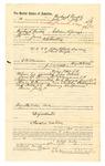1889 July 15: Voucher, to Richard Burks, of Siloam Springs, Arkansas, for assisting B. Connelley, deputy marshal, in U.S. v. John Black and U.S. v. Bud Burger, larceny; E.B. Harrison, commissioner; Jacob Yoes, U.S. marshal; Stephen Wheeler, clerk; I.M. Dodge, deputy clerk