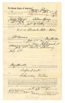 1889 July 13: Voucher, to James Eslinger, of Siloam Springs, Arkansas, for assisting James A. Petty, deputy marshal, in U.S. v. Alexander Holt, introducing and selling spiritous liquor; E.B. Harrison, commissioner; Stephen Wheeler, clerk; I.M. Dodge, deputy clerk
