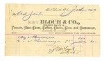 1889 July 19: Voucher, to Bloch & Co; includes cost of burners and chimneys for U.S. Jail; S.A. Williams, chief deputy; Stphen Wheeler, clerk; I.M. Dodge, deputy clerk; Jacob Yoes, U.S. marshal