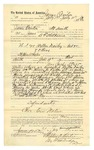 1889 July 31: Voucher, to James Overton, of Fort Smith, Arkansas, for assisting B.T. Shelburne, deputy marshal, in U.S. v. Milton Dailey et al., introducing and selling spiritous liquor; Stephen Wheeler, commissioner; John Lemons, Ed Morgan, James Chaney, Champe Wheate, Bill Hall, witnesses; I.M. Dodge, deputy clerk; includes cost of daily wage