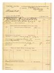1889 July 12: Voucher, U.S. v. Alexander Holt, introducing spiritous liquor; includes cost of mileage and feeding prisoner; J.A. Petty, deputy marshal; E.B. Harrison, commissioner