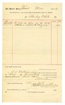 1889 July 11: Voucher, to Charley White; includes cost for hay; S.A. Williams, chief deputy; Stephen Wheeler, clerk; Jacob Yoes, U.S. marshal