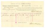 1889 July 11: Voucher, U.S. v. William Romaine, larceny; J.M. Smith, witness; Stephen Wheeler, commissioner; Jacob Yoes, U.S. marshal; includes cost of per diem and mileage