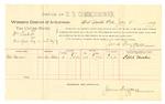 1889 July 11: Voucher, U.S. v. William Luckett, introducing spiritous liquor; Ellis Harlen, witniss; James Brizzolara, commissioner; Jacob Yoes, U.S. marshal; includes cost of per diem and mileage
