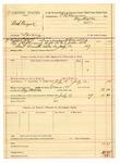 1889 July 12: Voucher, U.S. v. Bud Burges, larceny; includes cost of mileage and feeding prisoner; B. Connelley, deputy marshal; E.B. Harrison, commissioner
