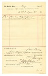 1889 July 11: Voucher, to W.N Ayers & Co.; includes cost for staples, rings, and rope for wagon covers used as awning back of court room; Jacob Yoes, U.S. marshal; S.W. Williams, chief deputy; Stephen Wheeler, clerk; I.M. Dodge, deputy clerk