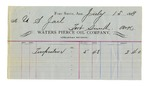 1889 July 15: Voucher, to Water Pierce Oil Company; includes cost for turpentine for U.S. jail
