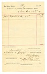 1889 July 20: Voucher, to Waters Pierce Oil Co.; includes cost for turpentine; S.A. William, chief deputy; Stephen Wheeler, clerk; Jacob Yoes, U.S. marshal