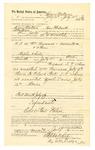 1889 July 24: Voucher, to Henry Wallace, of Fort Smith, Arkansas, for assisting W.H. Arnold, deputy marshal, in U.S. v. William Newsom et al., assault with intent to kill; Stephen Wheeler, commissioner; I.M. Dodge, deputy clerk; Jacob Yoes, U.S. marshal; Zack Davis, arrested