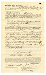 1889 July 20: Voucher, to Nathan Colbert, of Fort Smith, Arkansas, for assisting Wood Bailey, deputy marshal, in U.S. v. Jimpson Jackson and One McGilberry et al.; Stephen Wheeler, commissioner; I.M. Dodge, deputy clerk; Jacob Yoes, U.S. marshal; Isaac Harris, arrested