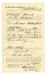 1889 July 26: Voucher, to William Y. Asbill, of Fort Smith, Arkansas, for assisting John Salmon, deputy marshal, in U.S. v. Fred Scott, threatening to kill; Stephen Wheeler, commissioner; I.M. Dodge, deputy clerk; Jacob Yoes, U.S. marshal