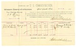 1889 July 16: Voucher, U.S. v. O.F. Webber, violating internal revenue laws; Lorenzo D. Brody, John F. Canady, witnesses; Stephen Wheeler, commissioner; Jacob Yoes, U.S. marshal; includes cost of per diem and mileage