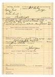 1889 July 19: Voucher, U.S. v. Captain Fish and Rachel Smith, contempt; Steven Edwards, deputy marshal; I.C. Parker, judge; John W. Yoes, guard; includes cost of mileage and feeding prisoner