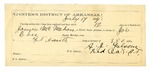1889 July 26: Voucher, U.S. v. James McMahan, assault with intent to kill; James B. Lee, deputy marshal; Jacob Yoes, U.S. marshal; Newt High, posse comitatus; Pike Coil, Old Man Bixby, D. Gameaway, witnesses; Stephen Wheeler, commissioner; I.M. Dodge, deputy marshal; A.J. Folsom, guard; includes cost for mileage, service and subsistence for self, horse and prisoner