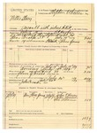 1889 July 19: Voucher, to W.B. Pape; includes cost for quicksilver and eggs for use in exterminating million of bed bugs and their relatives; Stephen Wheeler, clerk; I.M. Dodge, deputy clerk; S.A. WIlliams, chief deputy; Jacob Yoes, U.S. marshal;