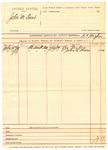 1889 July 19: Voucher, U.S. v. John M. Trout; B.T. Hughes, deputy marshal; Lee Taylor, Dr. John E. Stinson, witnesses