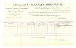 1889 July 19: Voucher, U.S. v. Thomas Goddard, stealing U.S. mail; J.D. Vaughan Jr., witness; Jacob Yoes, U.S. marshal; James Brizzolara, commissioner; includes cost of per diem and mileage