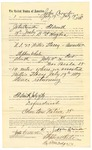 1889 July 31: Voucher, to John Crowder, of Fort Smith, Arkansas, for assisting B.T. Huges, deputy marshal, in U.S. v. Willis Stacey, assault with intent to kill; Stephen Wheeler, commissioner; I.M. Dodge, deputy clerk; Jacob Yoes, U.S. marshal