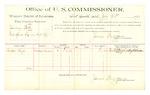 1889 July 23: Voucher, U.S. v. Swinny Belt, introducing spiritous liquor; Newton High, witness; Jacob Yoes, U.S. marshal; James Brizzolara, commissioner; includes cost of per diem and mileage
