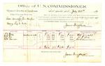 1889 July 23: Voucher, U.S. v. Lum Dunlap and Tom Harper, selling liquor; L.J. Wall, R.J. Box, M.W. Harrison, witnesses; Jacob Yoes, U.S. marshal; James Brizzolara, commissioner; includes cost of per diem and mileage
