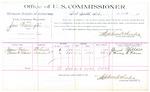 1889 July 24: Voucher, U.S. v. Jim Washington, larceny; James Wallace, Francis M. Ridenour, witnesses; Jacob Yoes, U.S. marshal; Stephen Wheeler, commissioner; includes cost of per diem and mileage