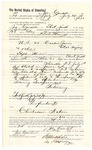 1889 August 13: Voucher, to Joe Cawdell, of Fort Smith, Arkansas, for assisting Heck Thomas, deputy marshal, in U.S. v. Caeser James et al., perjury; Stephen Wheeler, commissioner; I.M. dodge, deputy clerk; Jacob Yoes, U.S. marshal
